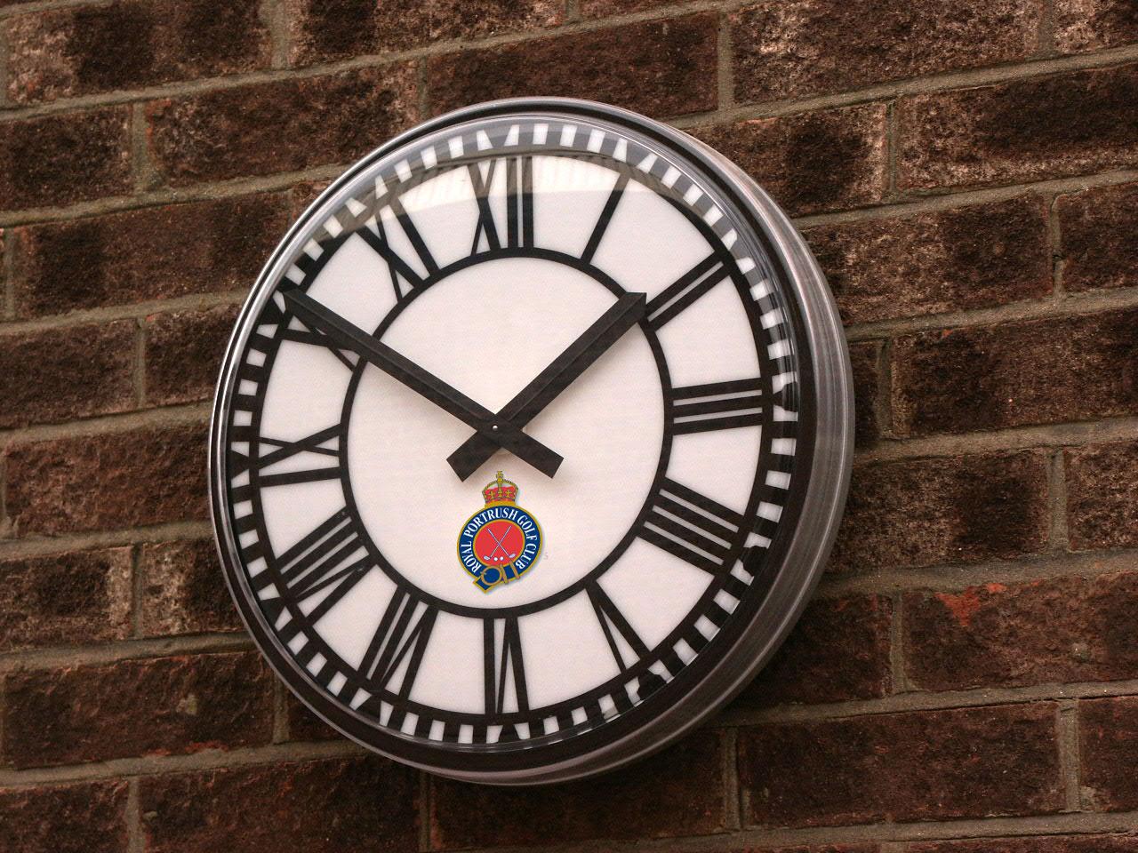 Logo on clock