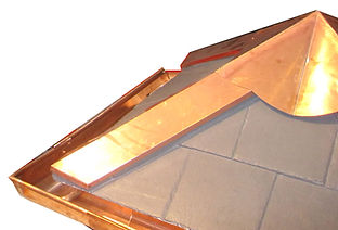 Copper ridges ad flashings