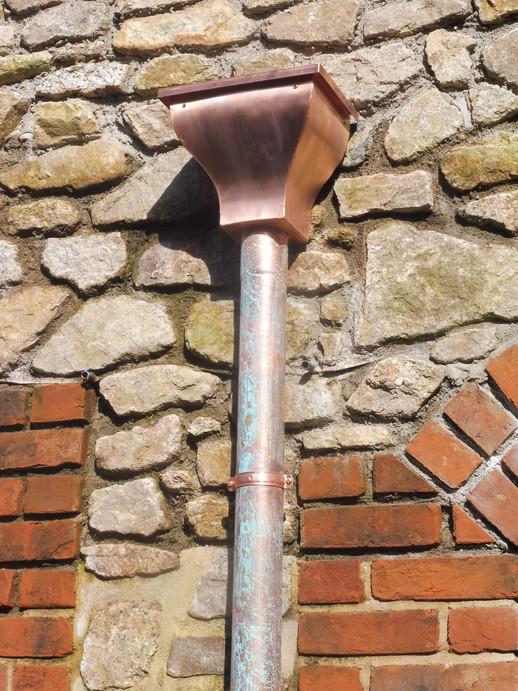 Copper hopper and downpipe