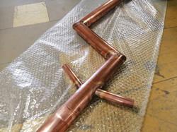 Bespoke copper downpipe