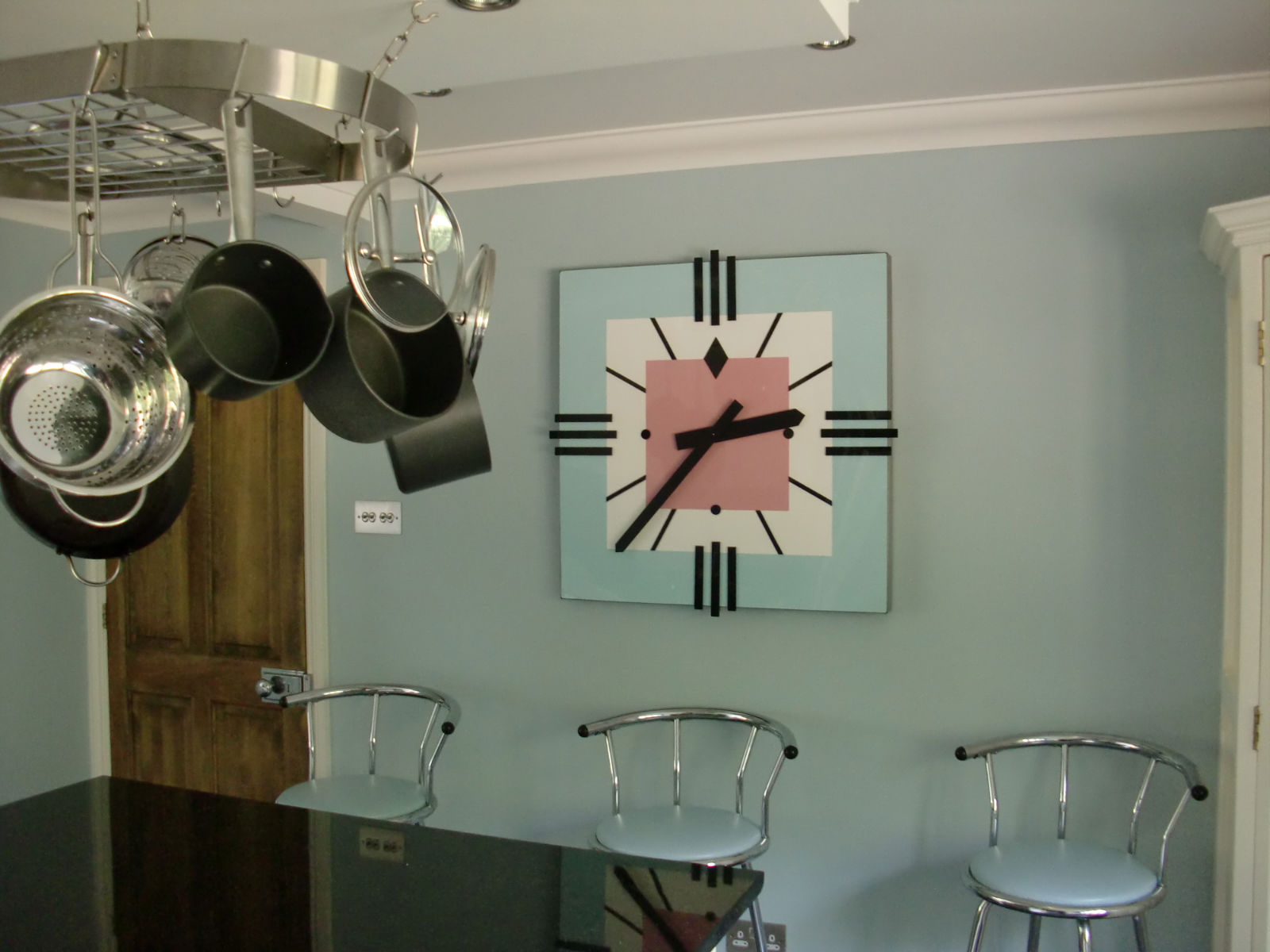 Art Deco inspired kitchen clock