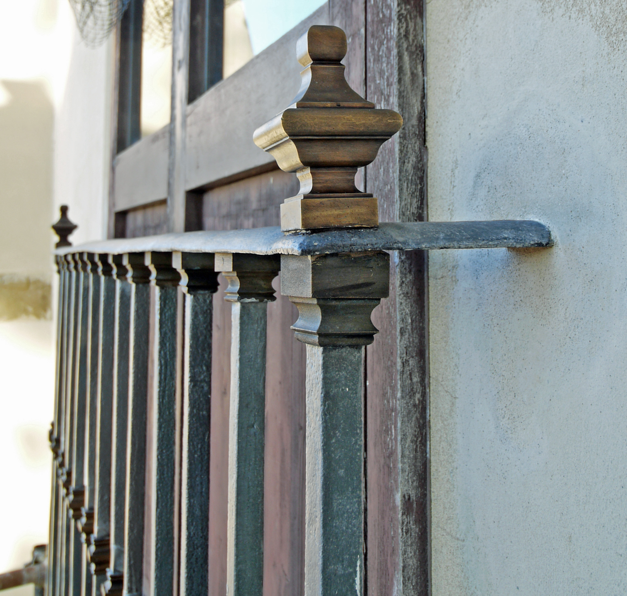 Brass antique railings