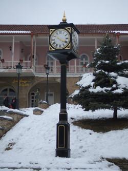 Pillar clock exported to Georgia