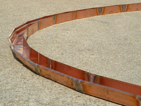 Copper gutter radius