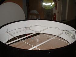 Illumination inside a clock drum