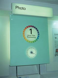 Interior clock for Boots shop