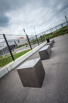 Black cncrete benches