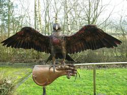Bespoke copper Falcon weathervane
