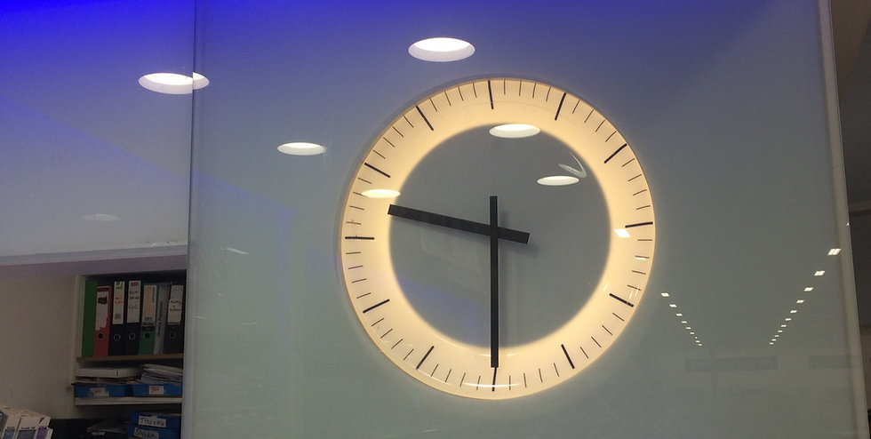Bespoke illuminated clock for Boots Chemists