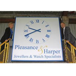 Signage with Clock