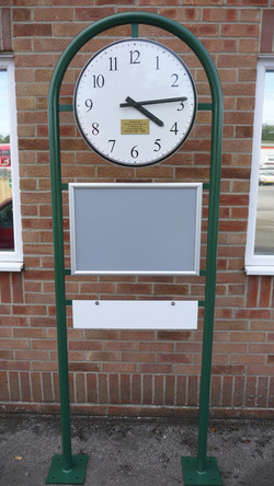 Post Mounted Clock with Signage