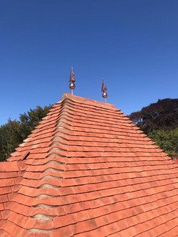 Copper square tapered finial