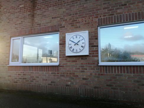 Square outside clock
