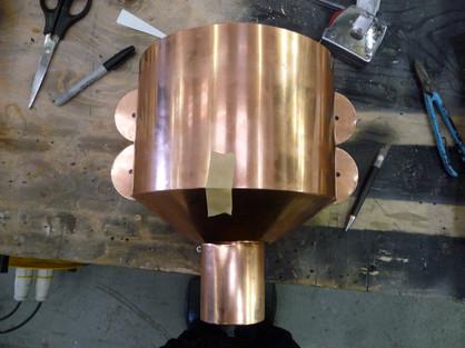 Bespoke Copper Hopper Head