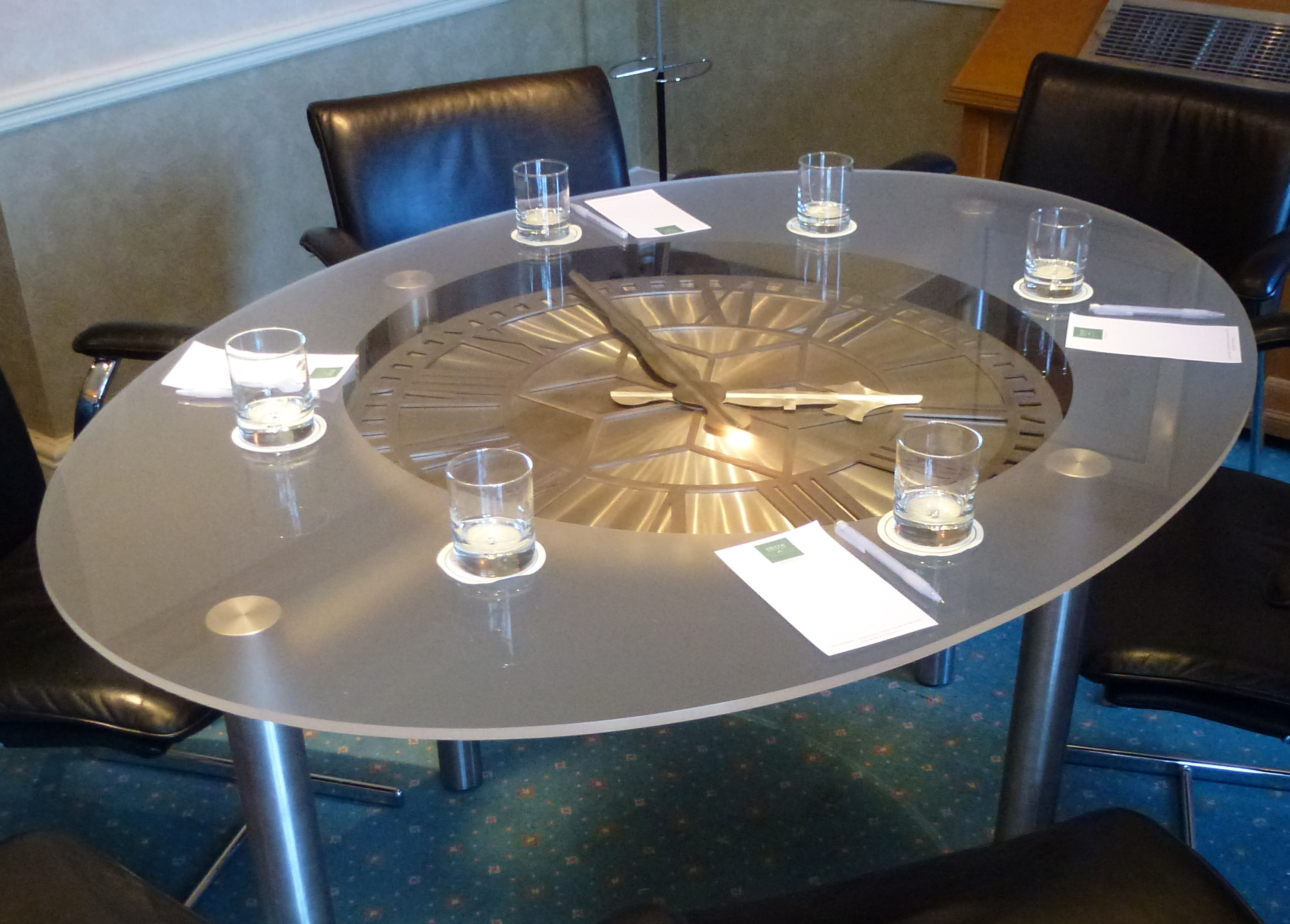 Hotel Conference Room Clock Table