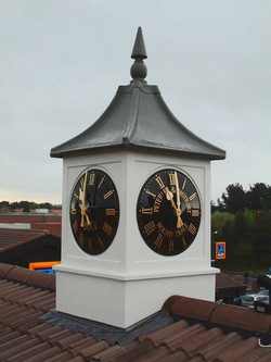 Clock tower on a bus station