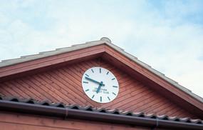 Modern exterior clock