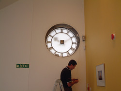 Rear view of clock dial