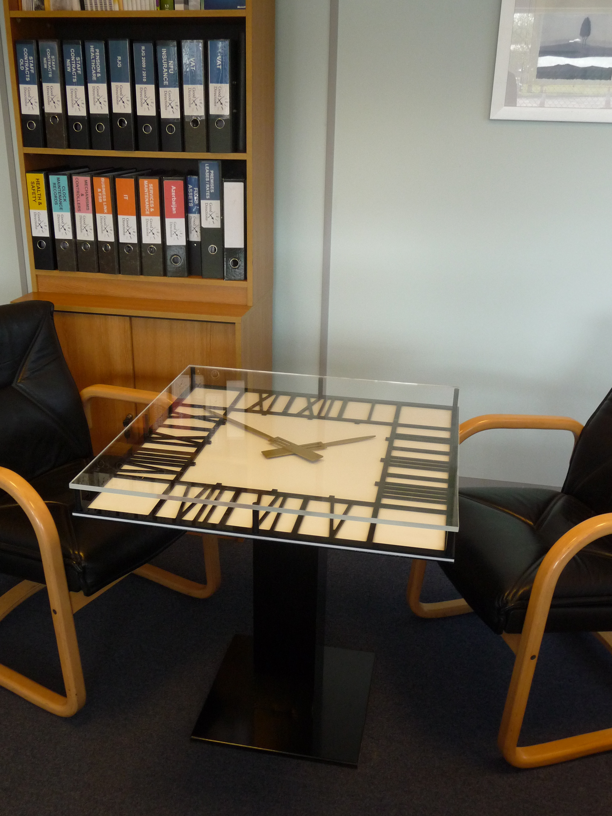 Office clock table