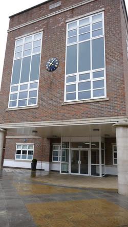 School entrance clock