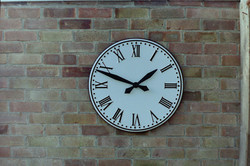 White Large Exterior Clock