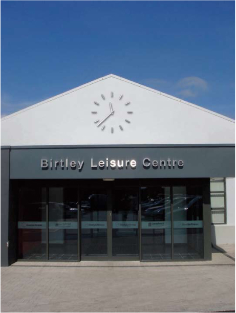 Leisure Centre modern clock