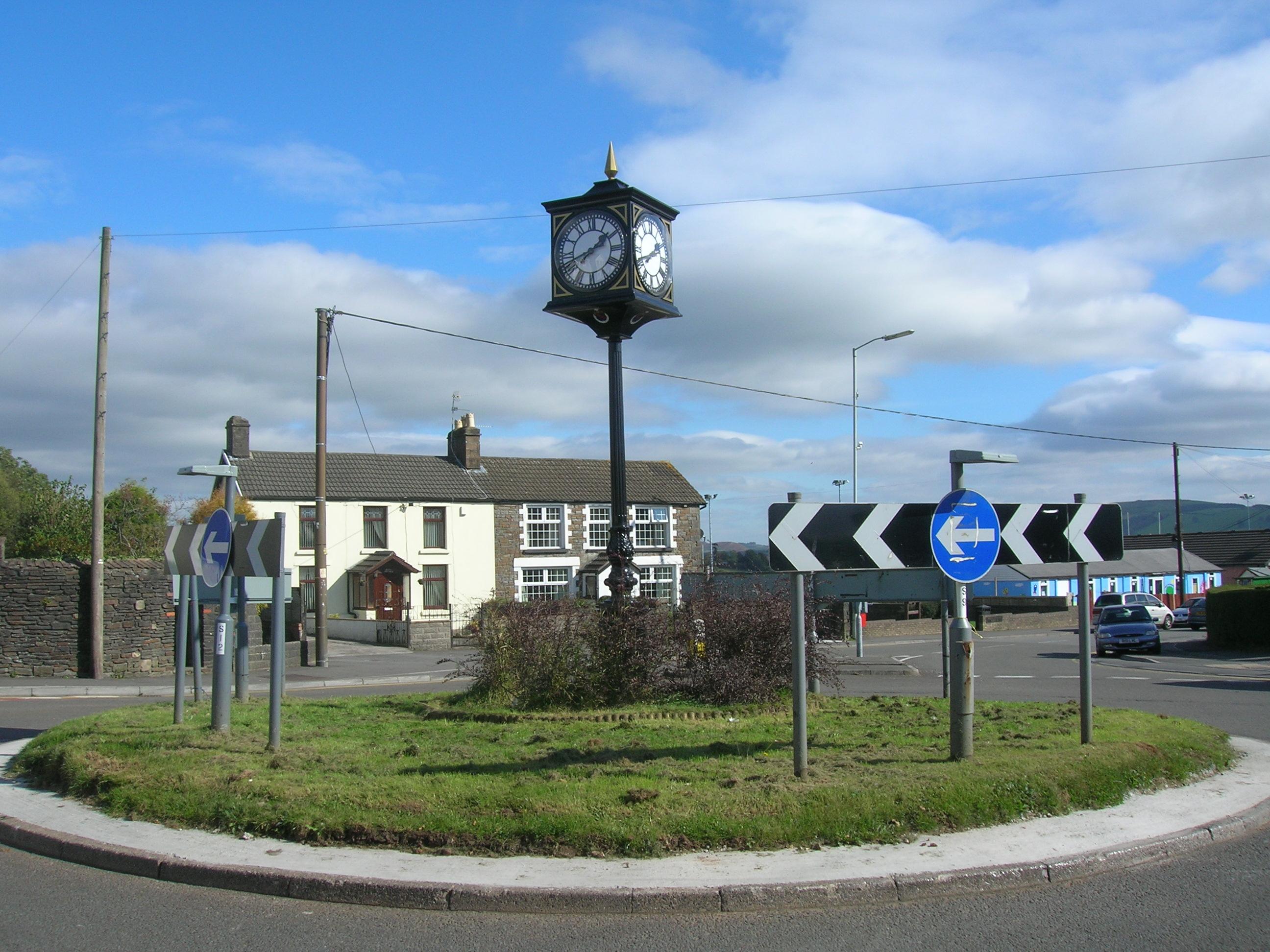 Village pillar clock