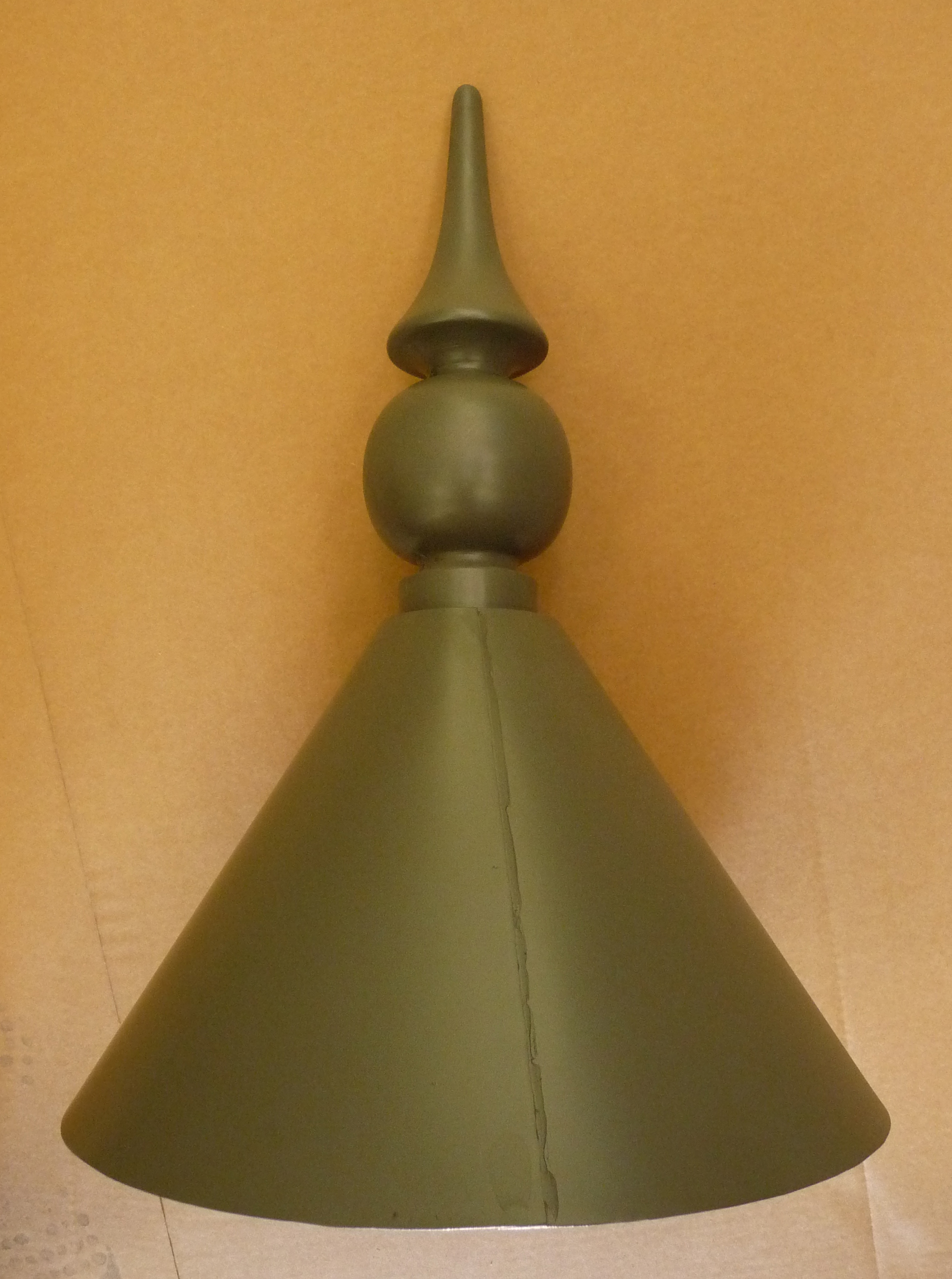 GRP lead effect finial with skirt