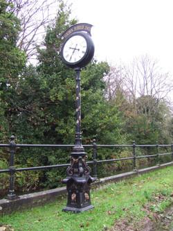 Bespoke pillar clock with gold leaf