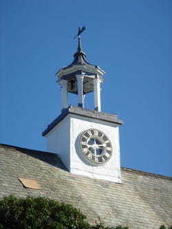 Restored clock in tower