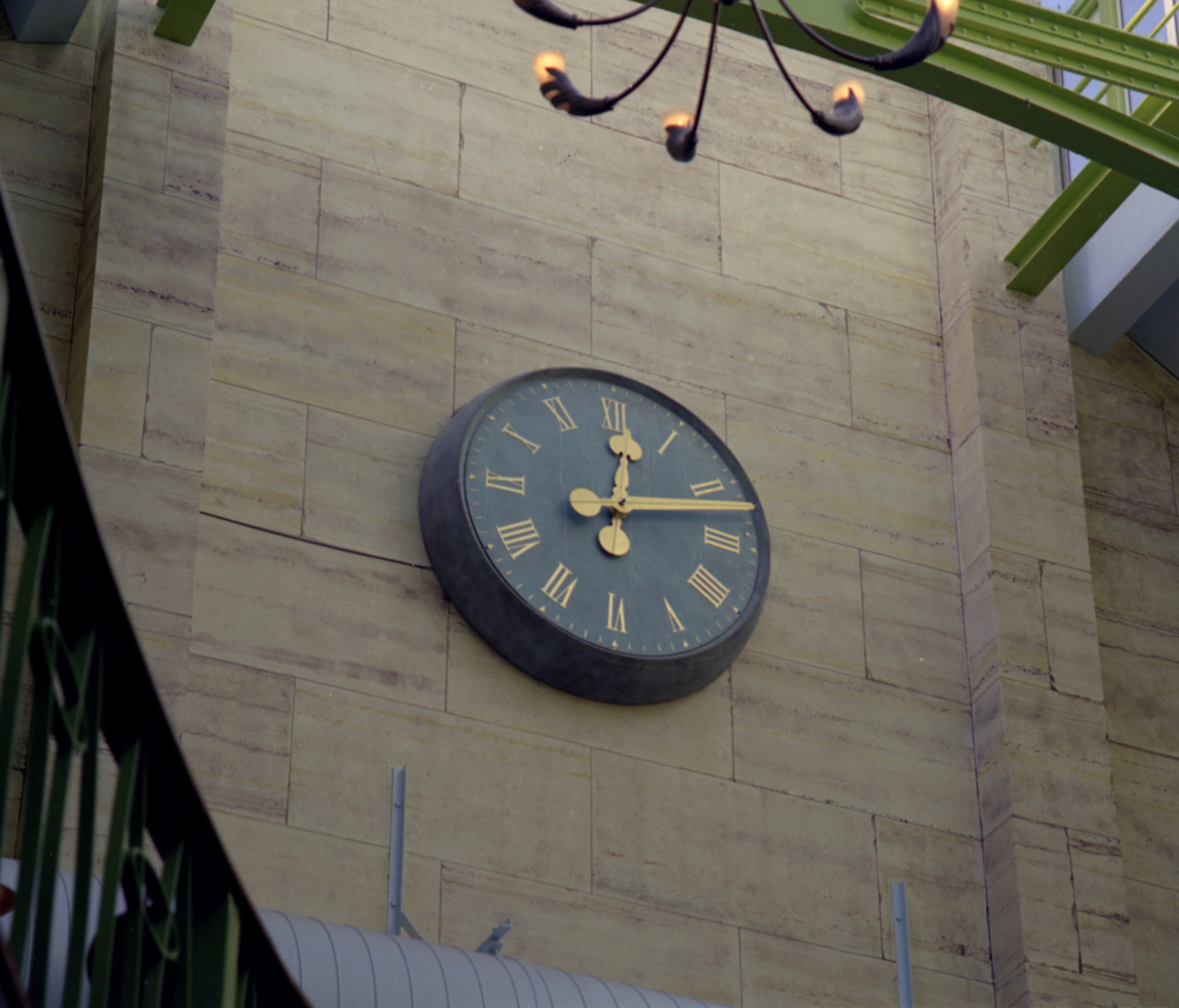 Interior clock for a public house