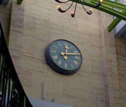 Interior clock for a public house