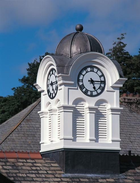 Skeleton clocks in a tower