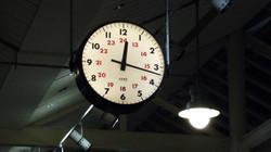 Illuminated clock showing 24 hours