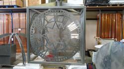 Stainless steel external clock