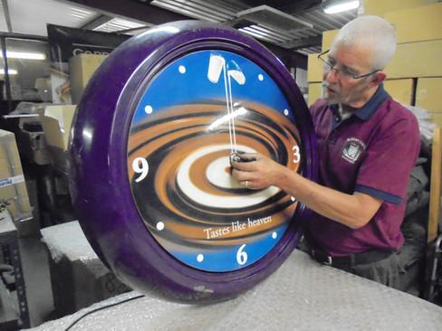 Bezel clock for Cadbury's