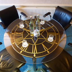 Black clock table