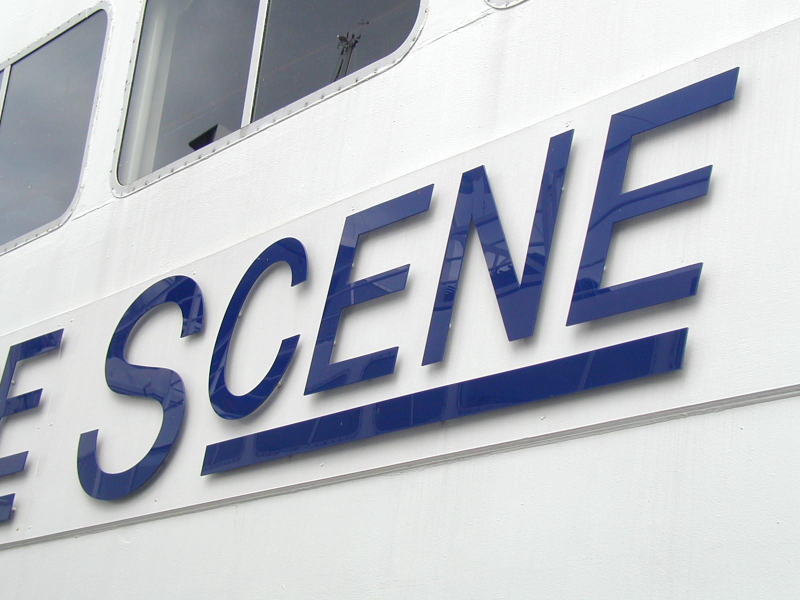 Signage on Boat