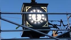 Pillar clock with four dials