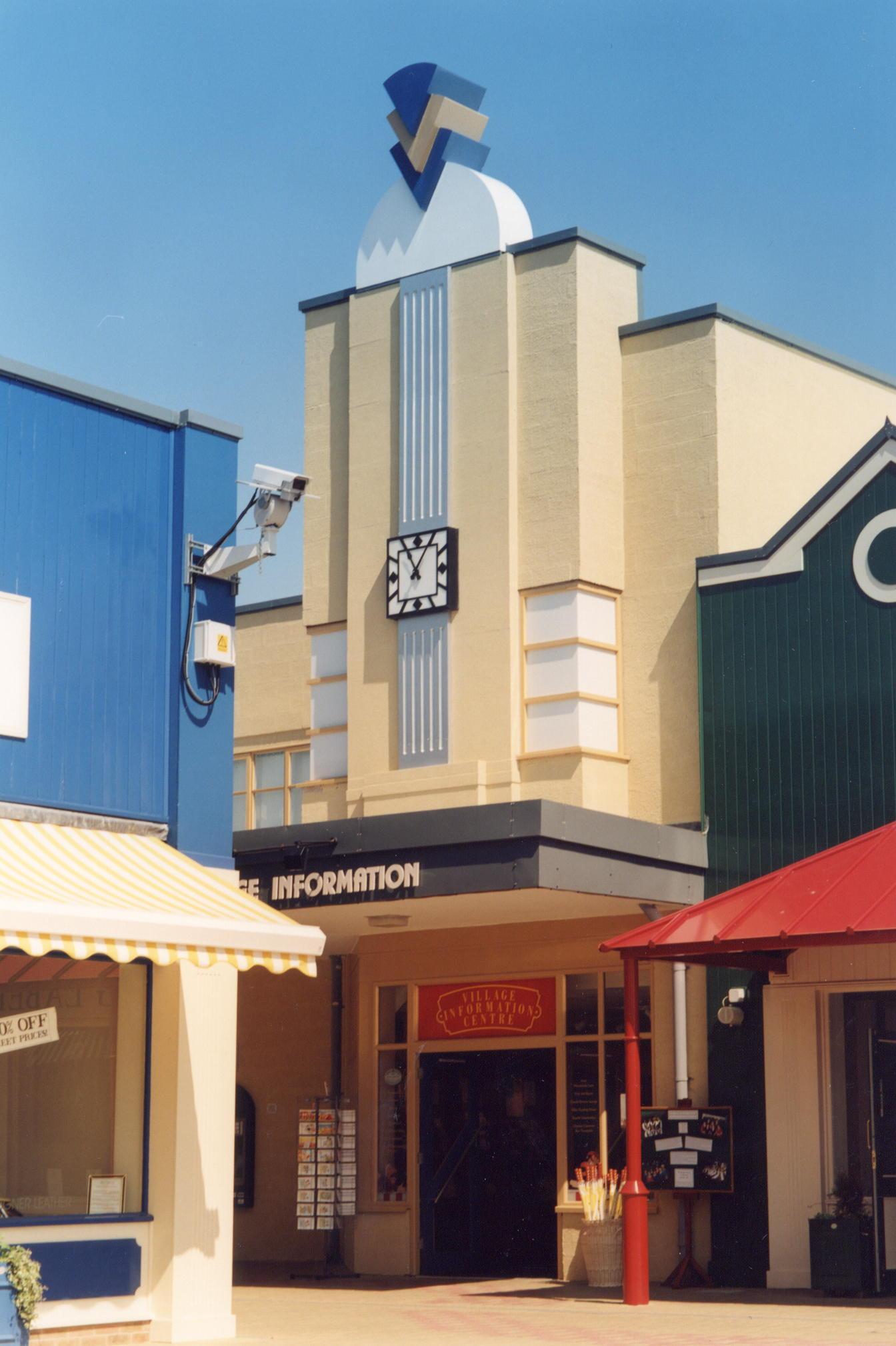 Art Deco clock on a cinema