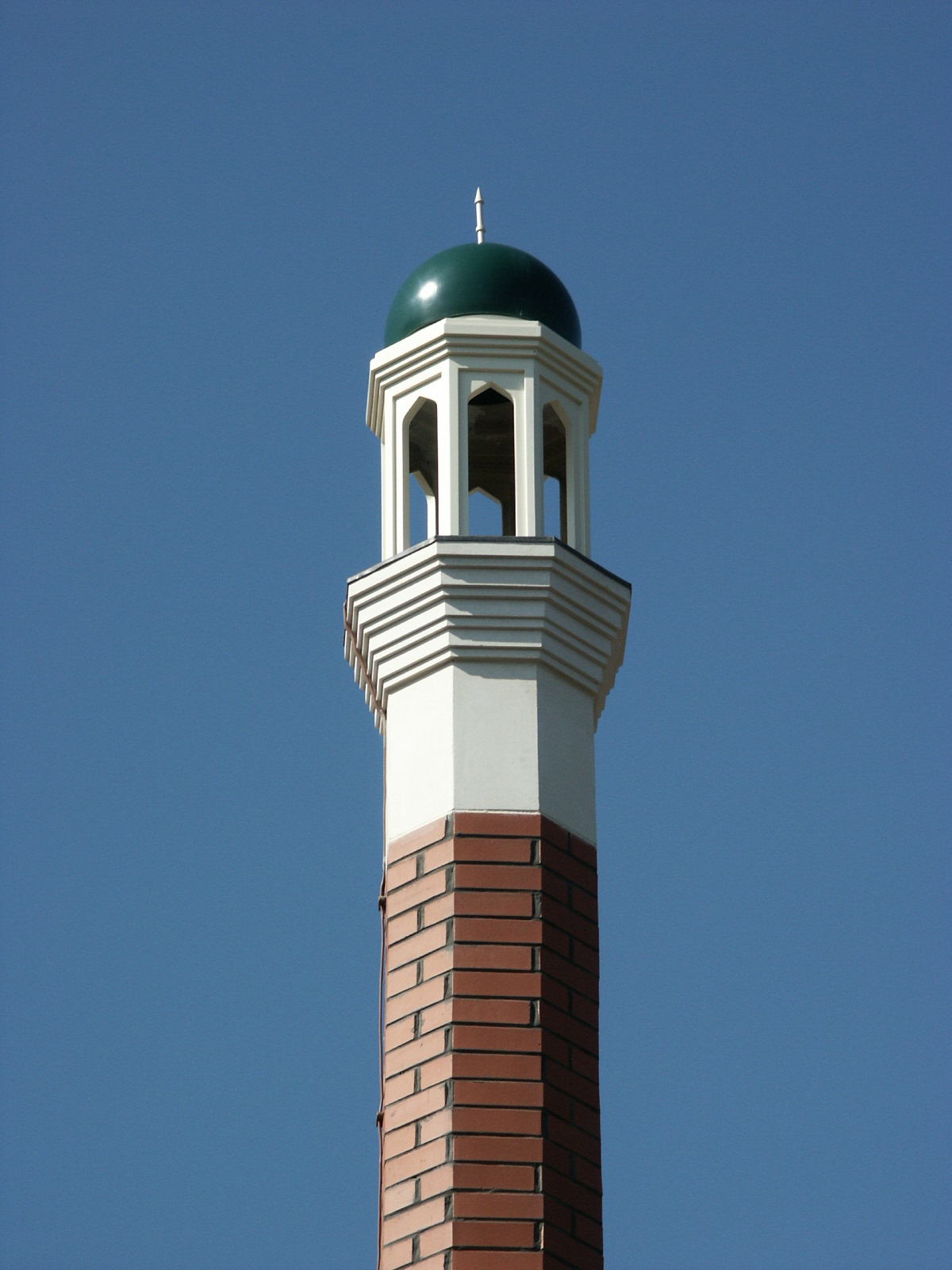 Mosque minaret with finial
