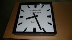 Golf Club square bezel clock