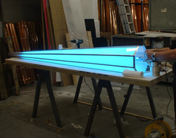 Illuminated finial in production