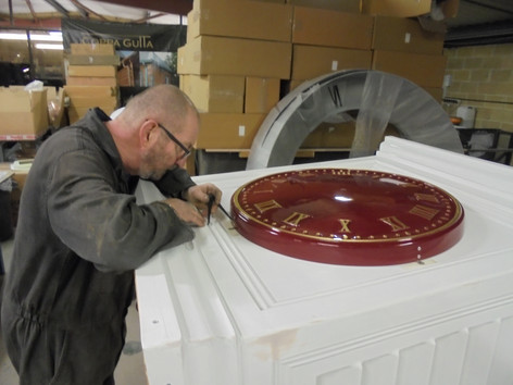 Roof Turret and Tower Clock production