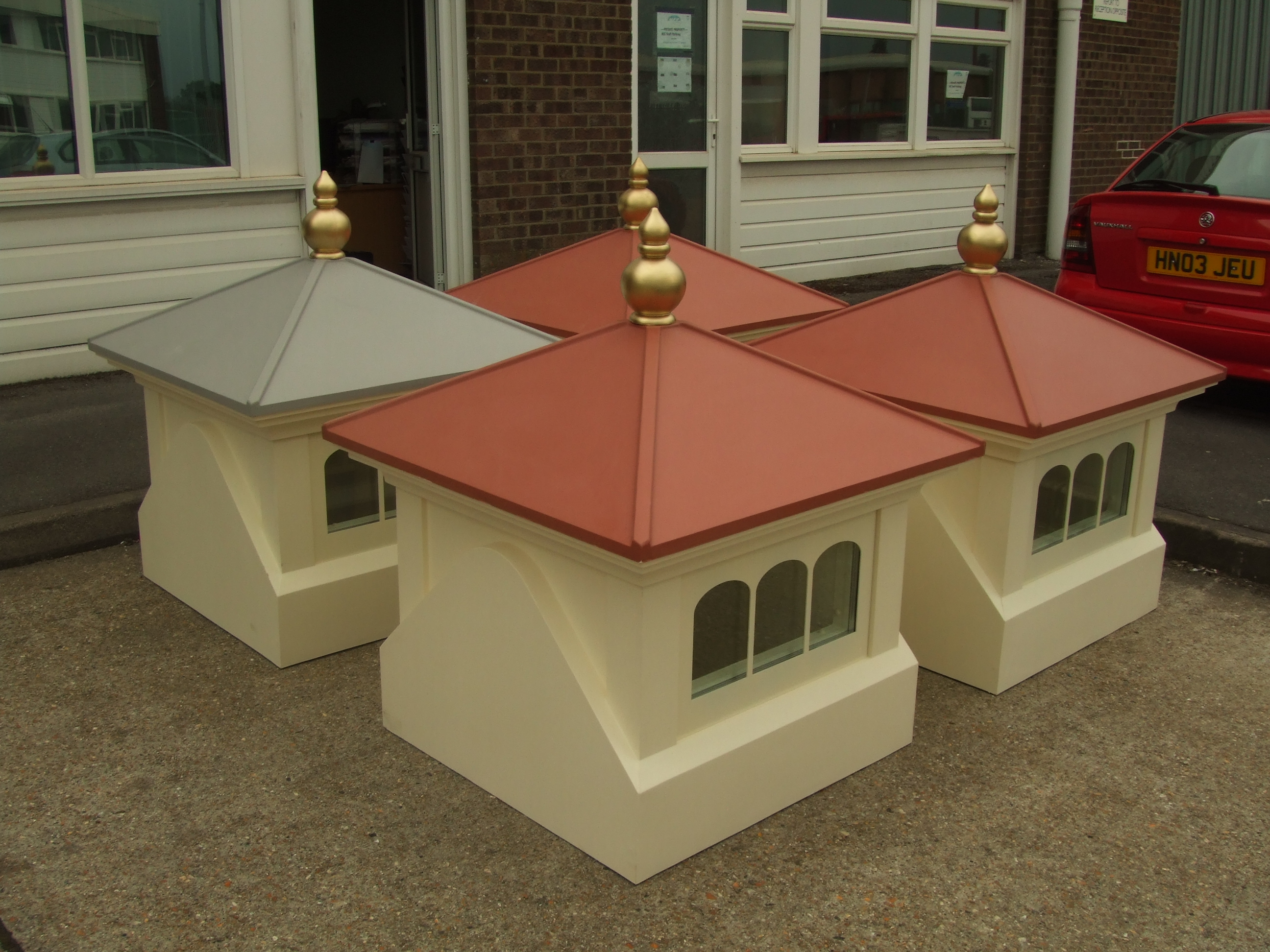 GRP finials with gold finish
