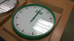Green bezel with logo to face