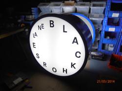 Illuminated street pillar clock