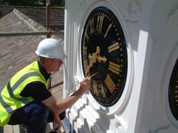 Clock dial restoration