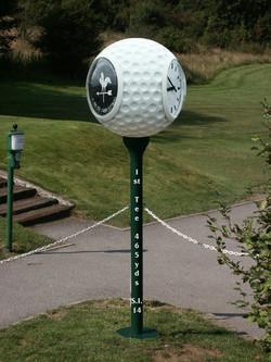Clock looking like a golf ball