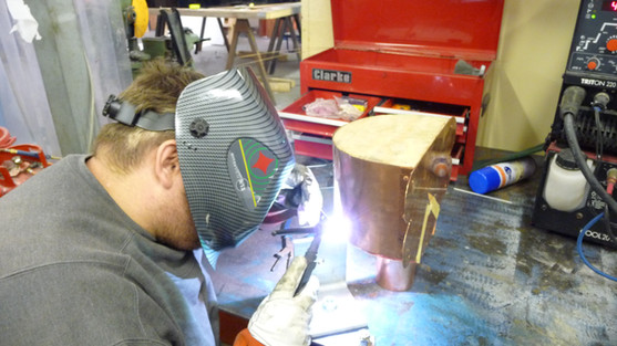 Bespoke hopper Head being manufactured